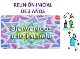 Reunión Infantil 3 años nueva incorporación.