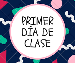 Horario Primer día de clase 2019/20