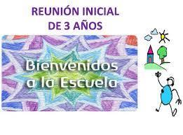 Reunión inicial Infantil 3 años – 2019/20