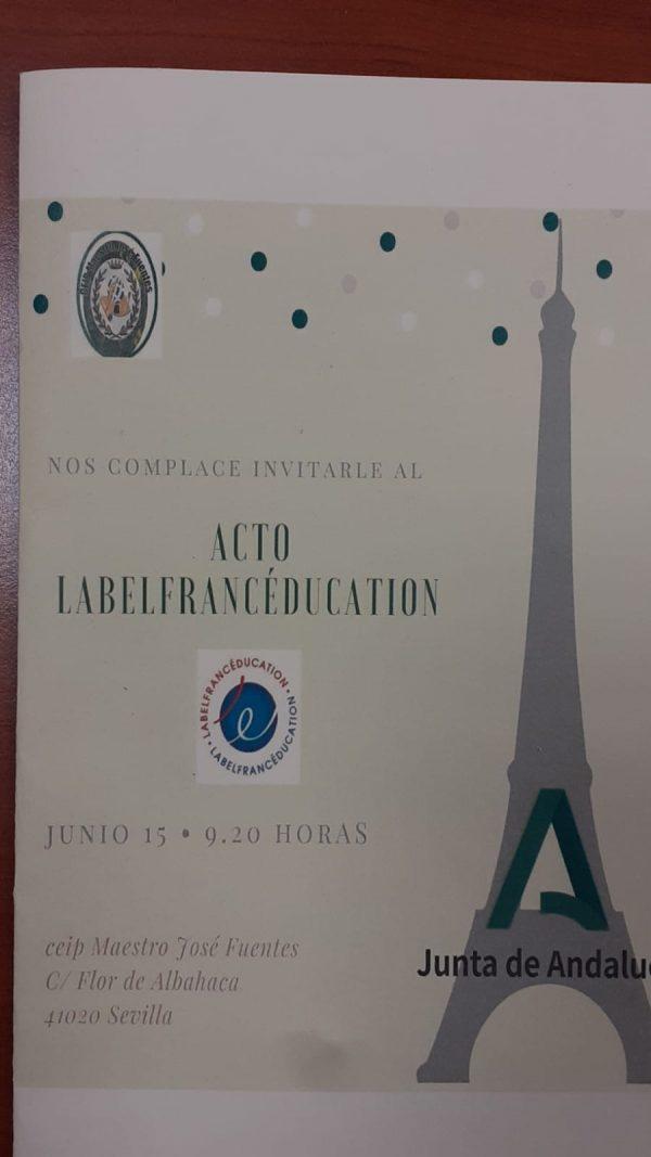 Entrega sello Excelencia Educativa del Gobierno Francés.